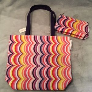 Clinique Tote and Matching Makeup Bag